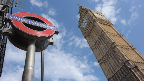 Photo of Big Ben and Underground sign in London