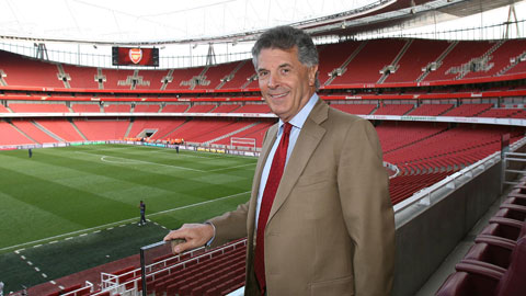 Picture of David Dein at Arsenal Football Ground.