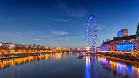 A photograph of London