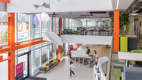 photograph of Loughborough University London reception