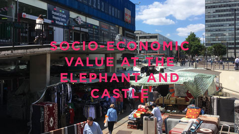 Cover page of the socio-economic value of Elephant and Castle report