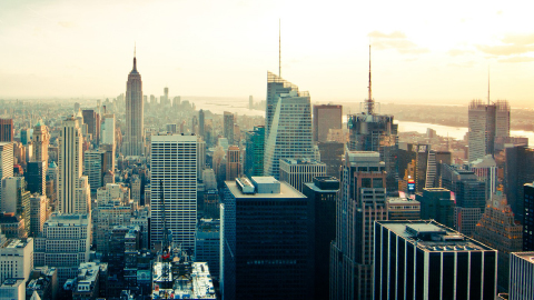A photograph of New York city