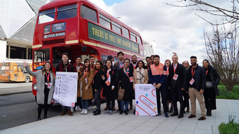 Image of students at the 2020 London Venture Crawl.