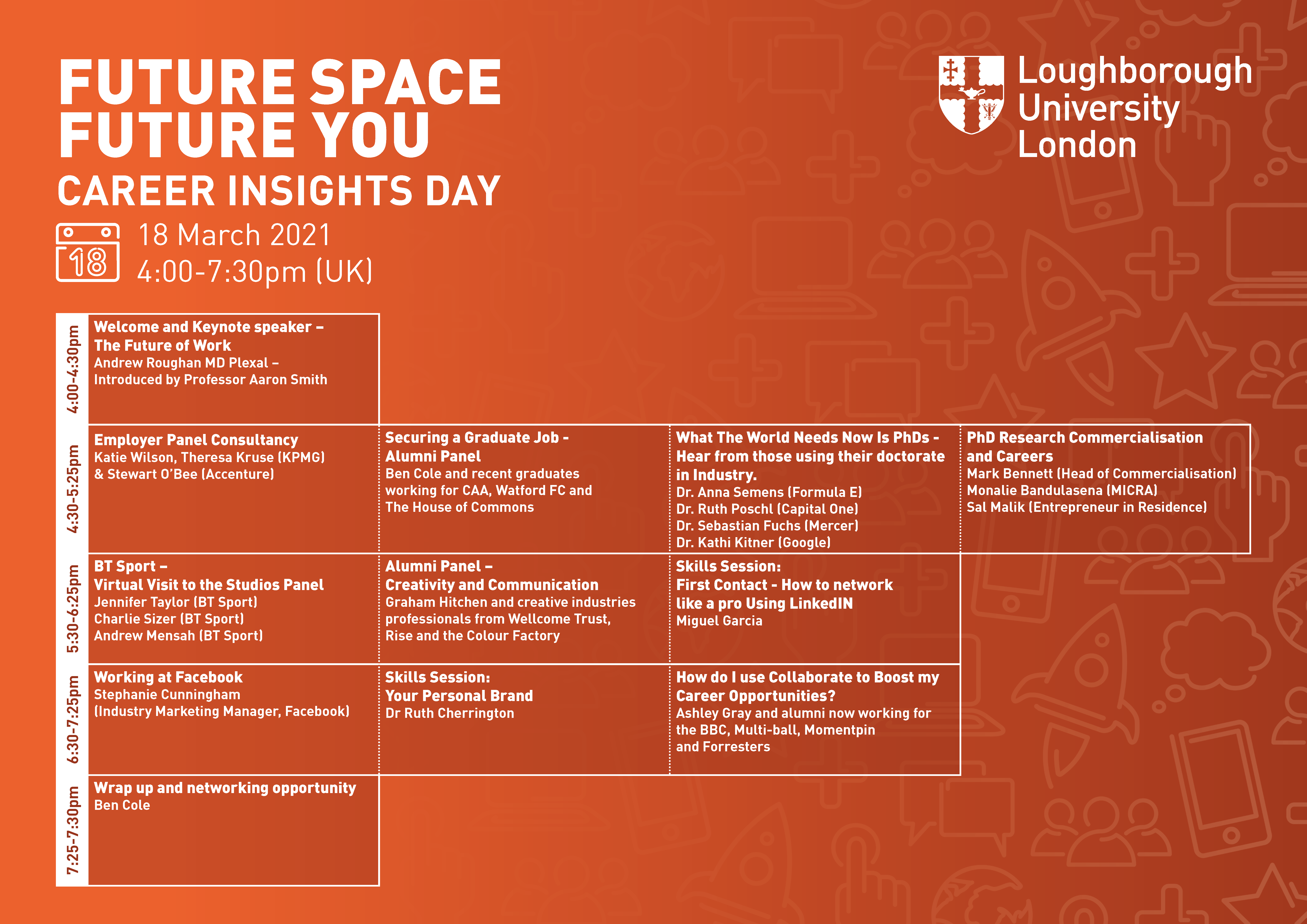 Image of Future Space | Future You event timetable.